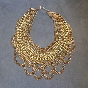 BaubleBar Courtney Bib Gold necklace